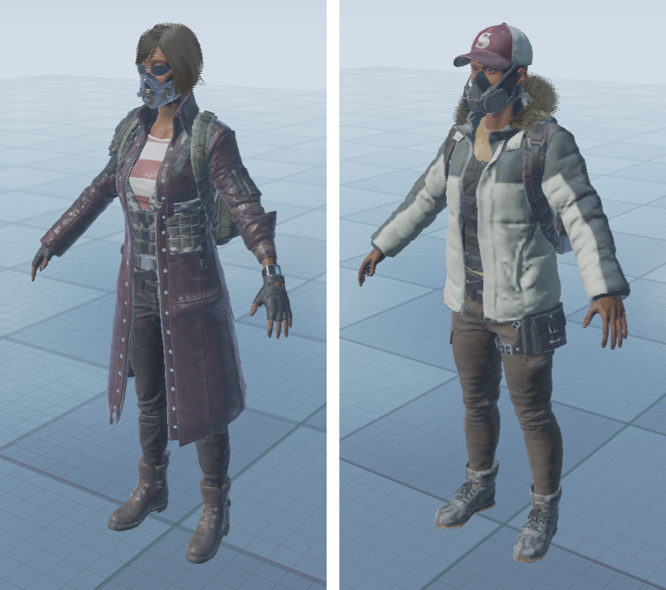 PUBG_3d_character_model_customisation