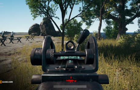PUBG_M249_iron_sights_view