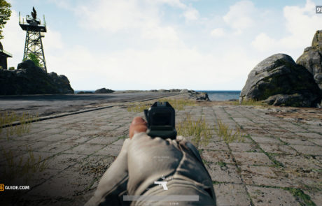 PUBG_P18C_iron_sights_view