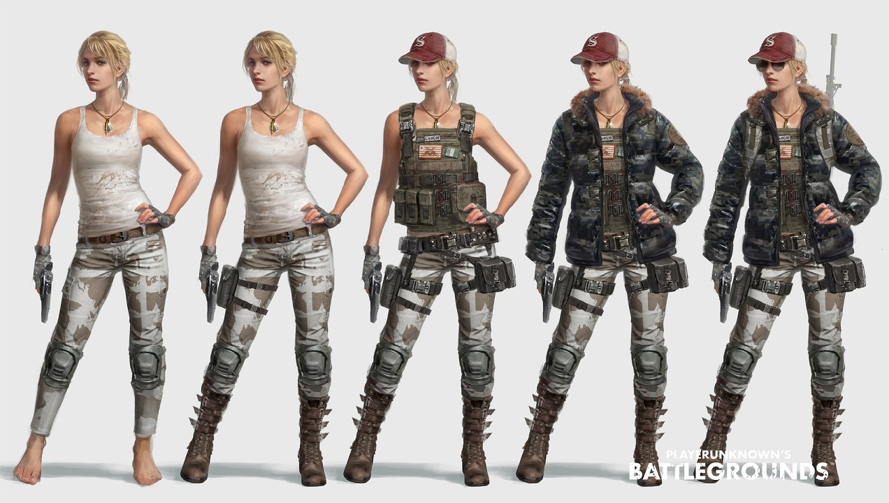 Player Unknown S Battlegrounds Pubg 4k Bike Girl Pubg: PUBG Character Models And Customisation